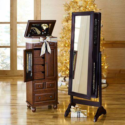 Triana Espresso Floor Mirror Armoire | Armoires, Espresso and Storage