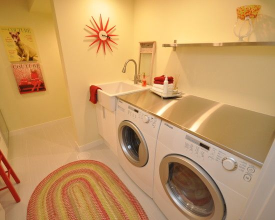 Laundry Room Under Counter Washer Dryer Design, Pictures, Remodel, Decor  And Ideas   Part 95