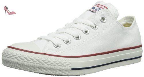 Converse CTAS Mono Ox, Sneakers Basses Mixte Adulte - Blanc - Optical White, 42 EU Herren 43,5 EU Damen