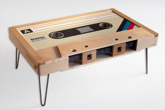 Retro Cette Tape Table Coffee Mixtape Led Cup