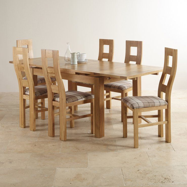 Dorset Solid Oak Dining Set 4ft 7 Table With 6 Chairs