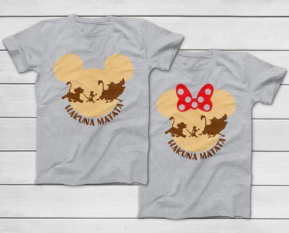 76ed0b3d667e Disney Hakuna Matata T-Shirt - 2019 Disney Animal Kingdom T-Shirts - Mommy  Daddy Sister Brother Lion