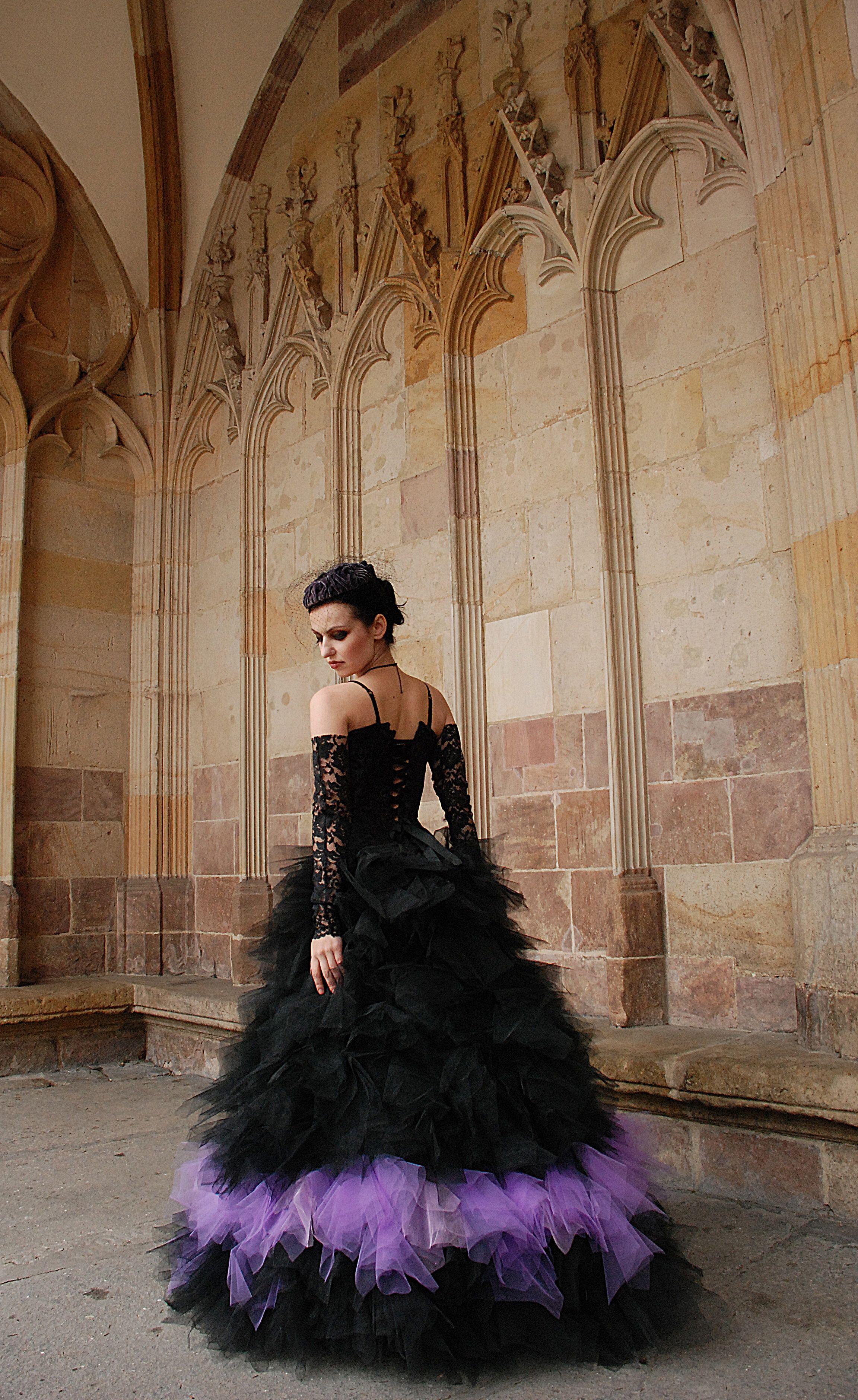 Dress Dark Gothic Lady Black Gothic Etsy Gothic Wedding Dress Goth Prom Dress Purple Wedding Dress [ 3760 x 2304 Pixel ]