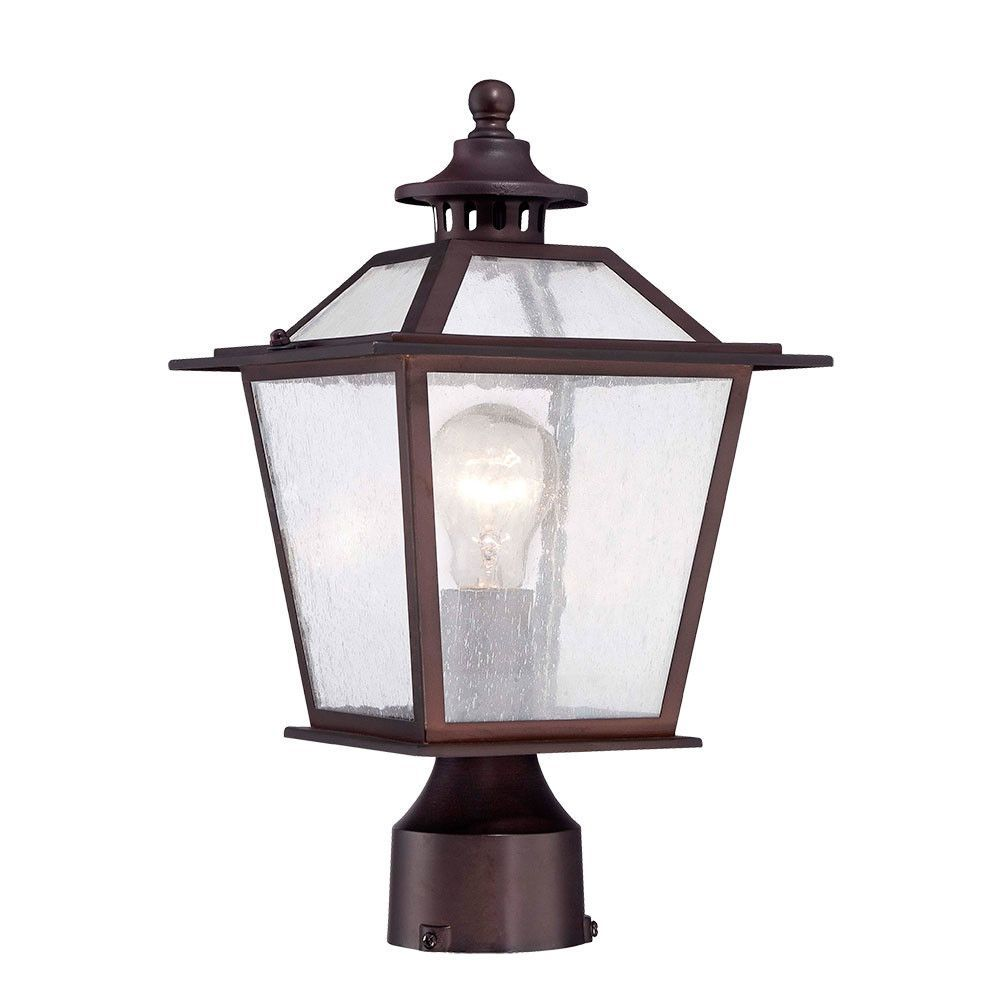 Acclaim Lighting Salem Collection Matte Black Outdoor Post Mount   The Home  Depot