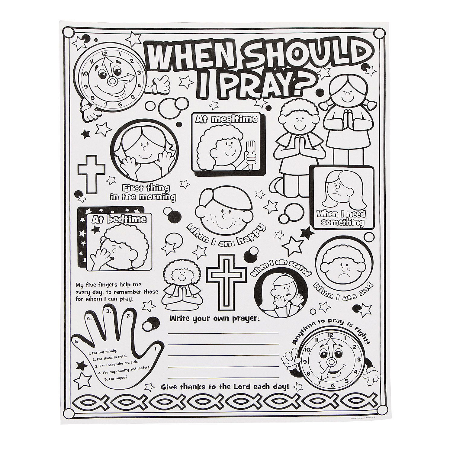 Color Your Own When Should I Pray Posters