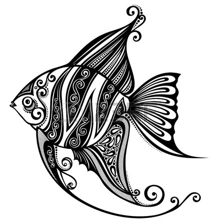 Fish  Patterned design is part of Fish vector - Illustration of Fish  Patterned design vector art, clipart and stock vectors  Image 26109564
