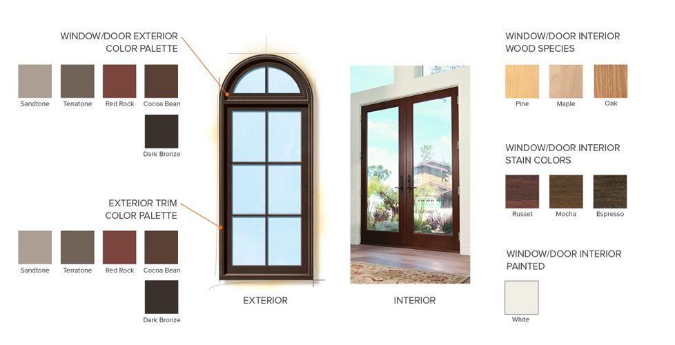 Spanish Colonial Home Style Window Color Finishes Anderson