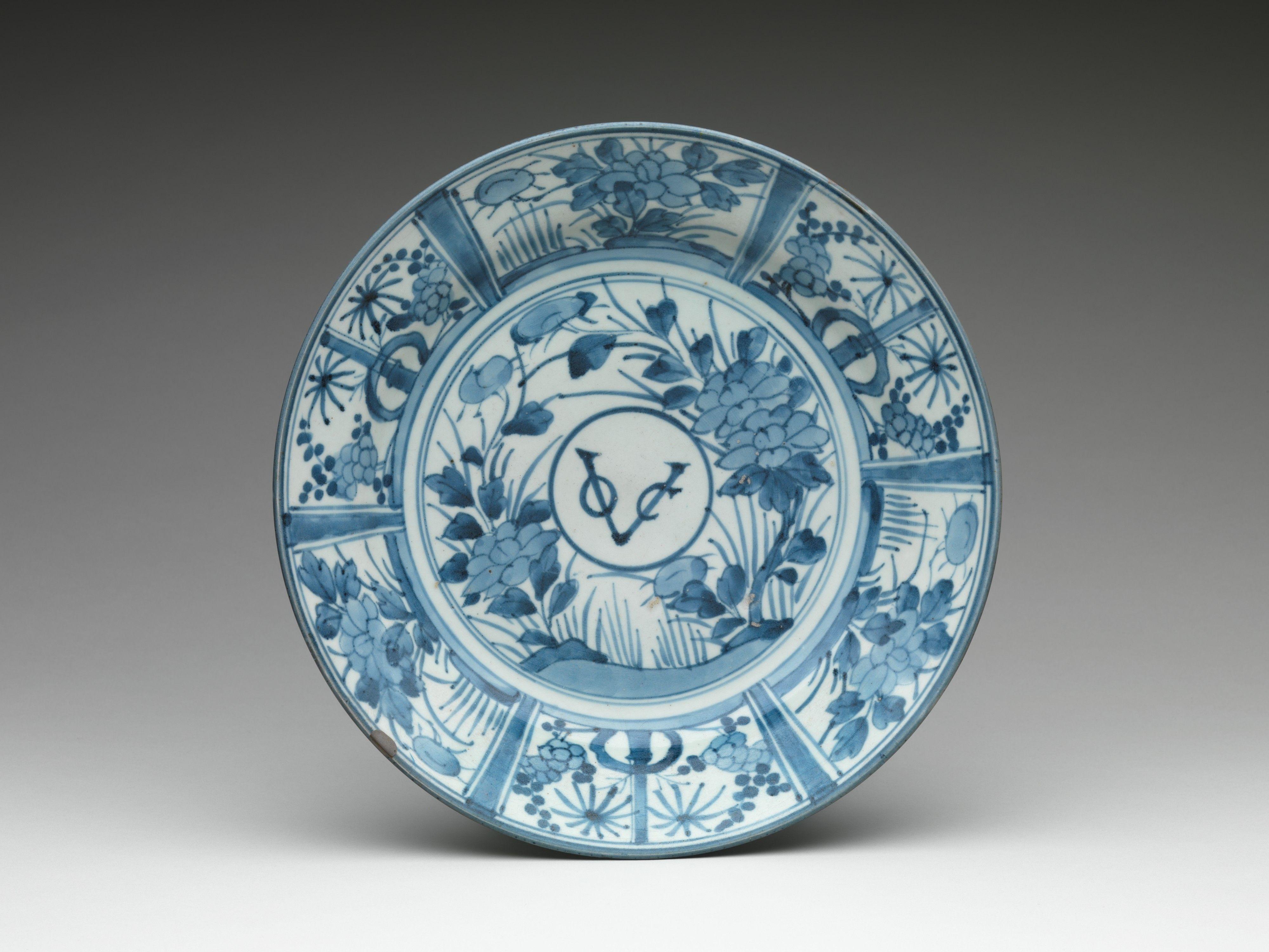 This Porcelain Dish Is Emblazoned With The Monogram Voc Which Stands For The Vereenigde Oost Indische Compagnie Japanese Porcelain East India Company Plates