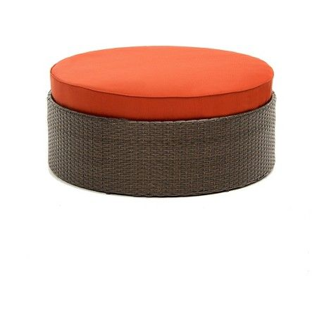 Hathaway Wicker Patio Ottoman/Table : Target