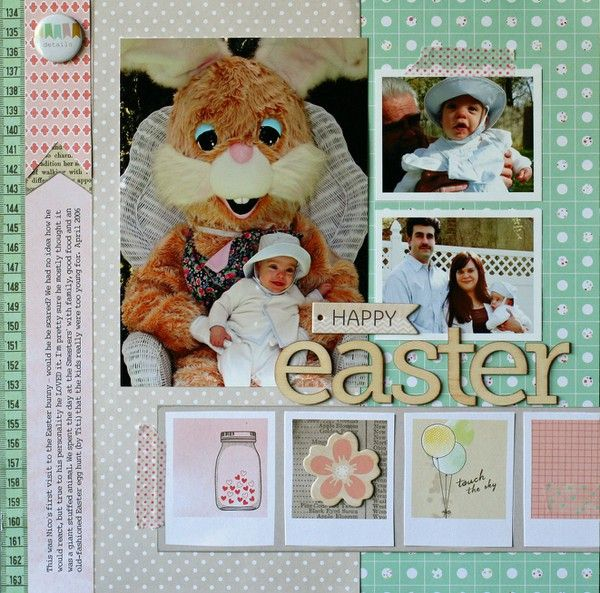 First Easter layout by Nancy Damiano