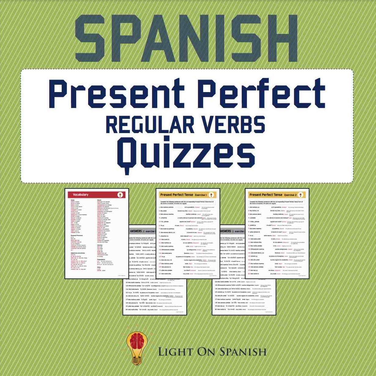 Spanish Present Perfect Regular Verbs Quizzes 3 Regular Verbs Present Perfect Verb [ 1229 x 1229 Pixel ]