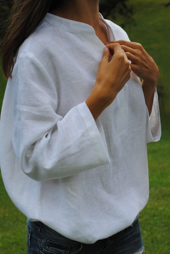 b969558baed White linen shirt