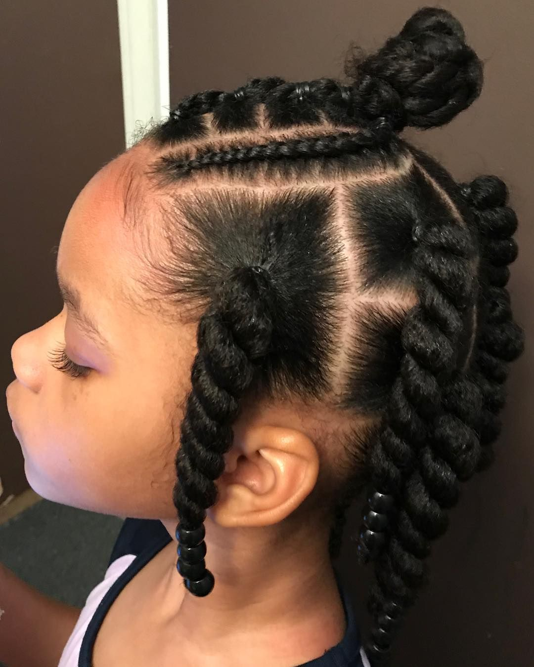 Image May Contain One Or More People And Closeup Little Girls Ponytail Hairstyles Natural Hairstyles For Kids Natural Hair Styles