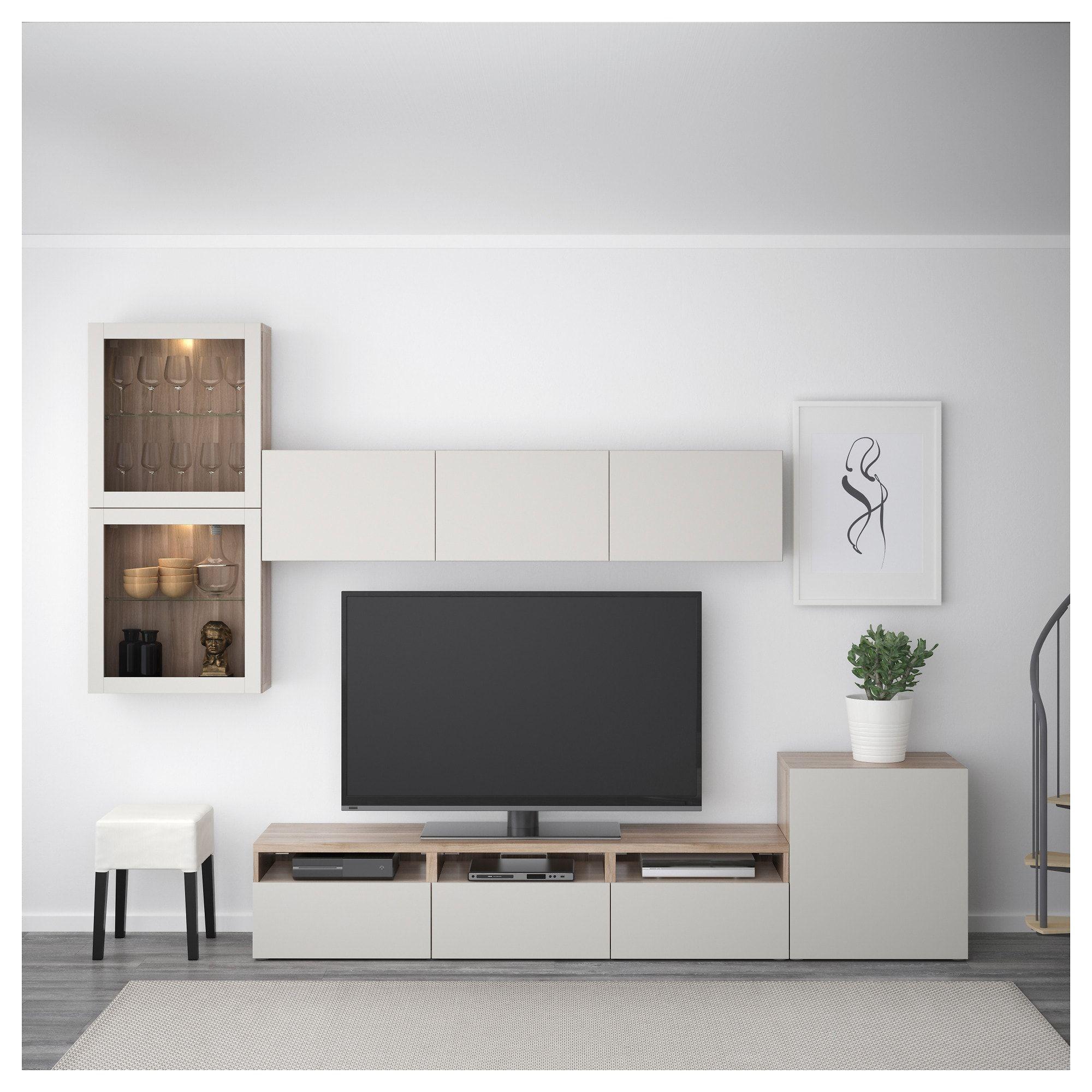BESTÅ TV storage combination/glass doors, Height: 83 1/8 Max. screen size: 70. Get it here! - IKEA