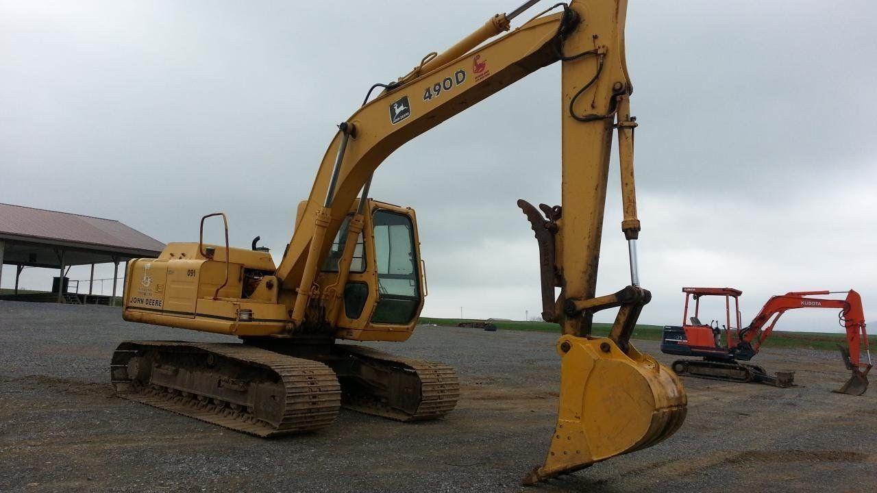 John deere 490d 493d excavator feller buncher parts catalog