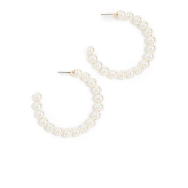 Lele Sadoughi Imitation Pearl Hoop Earrings Jr1C0