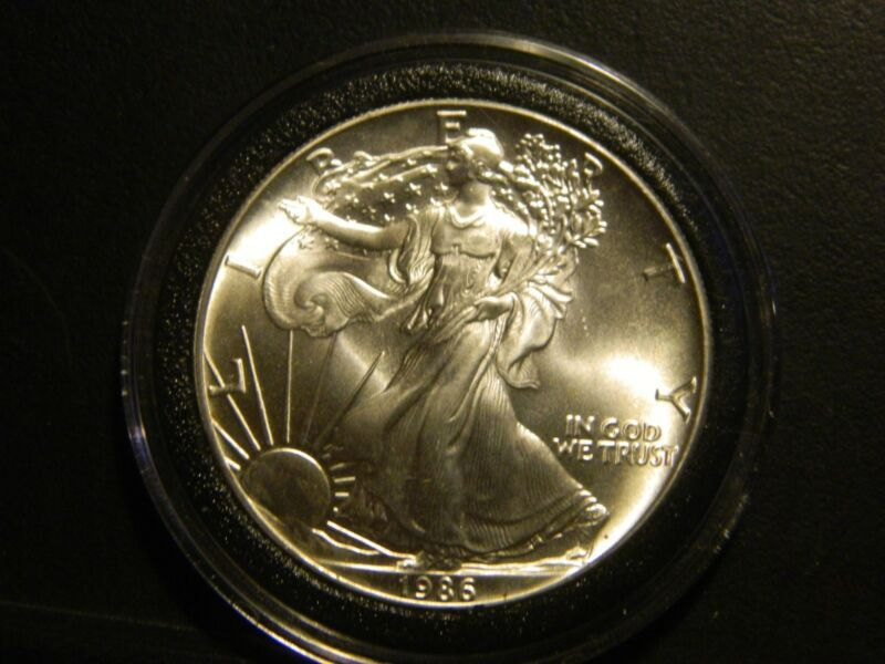 Bullion 1986 P Silver Eagle Dollar Bu Gem Coin Key Date Nice Coins Silver Eagles Bullion