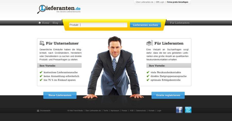 Lieferanten.de – die intelligente Suchmaschine für gewerbliche Einkäufer