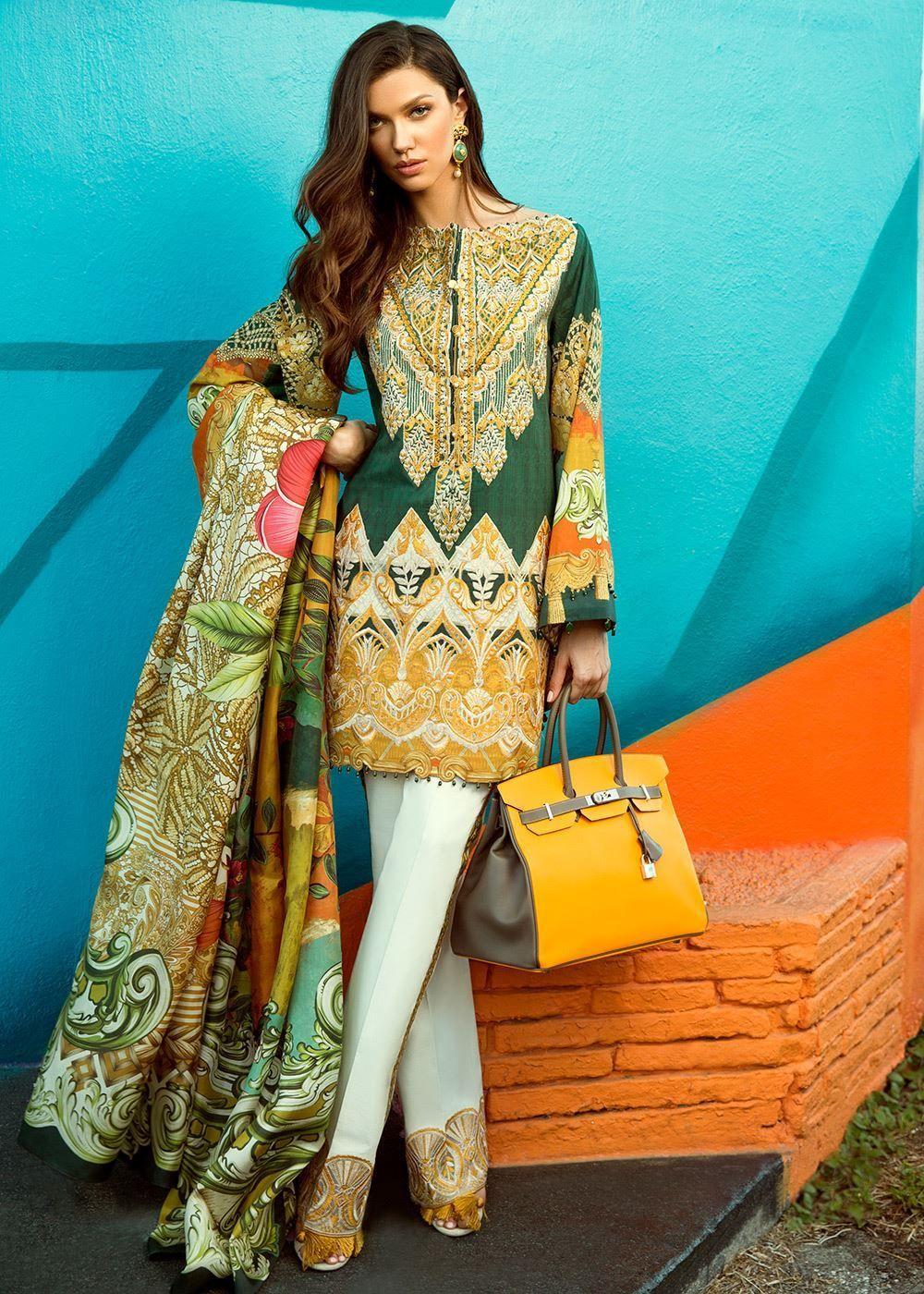 dd53f055ec Faraz Manan Lawn Collection 2018 | 1000 Ideas Of Pakistani Designer ...