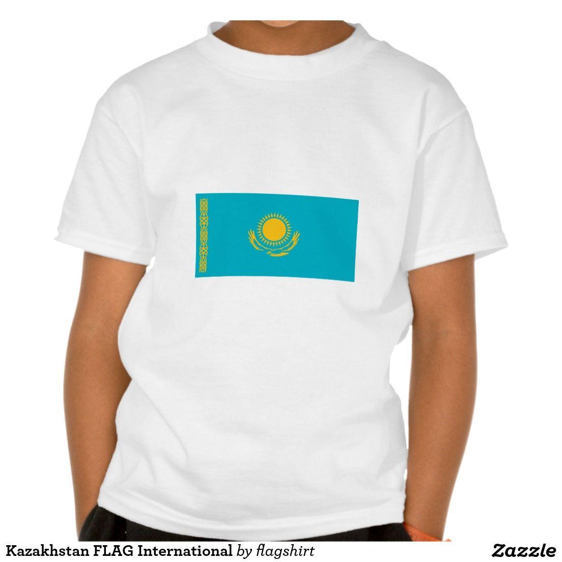Kazakhstan FLAG International T Shirts