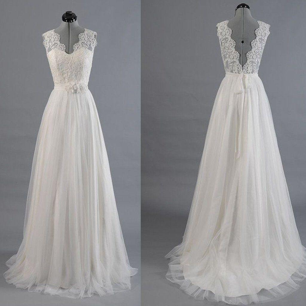 Best wedding dresses for full bust  Best Sale Vantage VBack Lace Top Simple Design Wedding Party