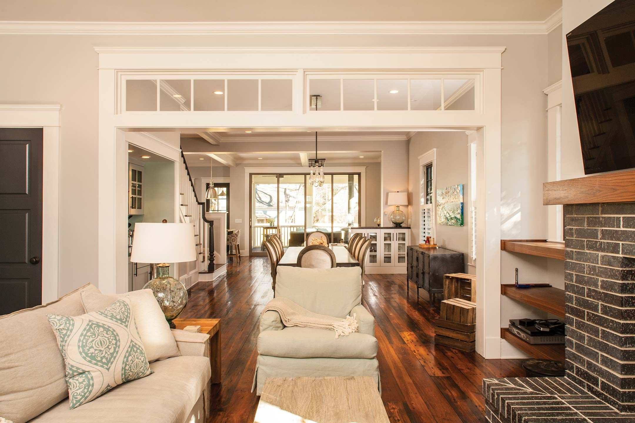 Decatur Whole House Renovation Craftsman Living Rooms Home Home Living Room