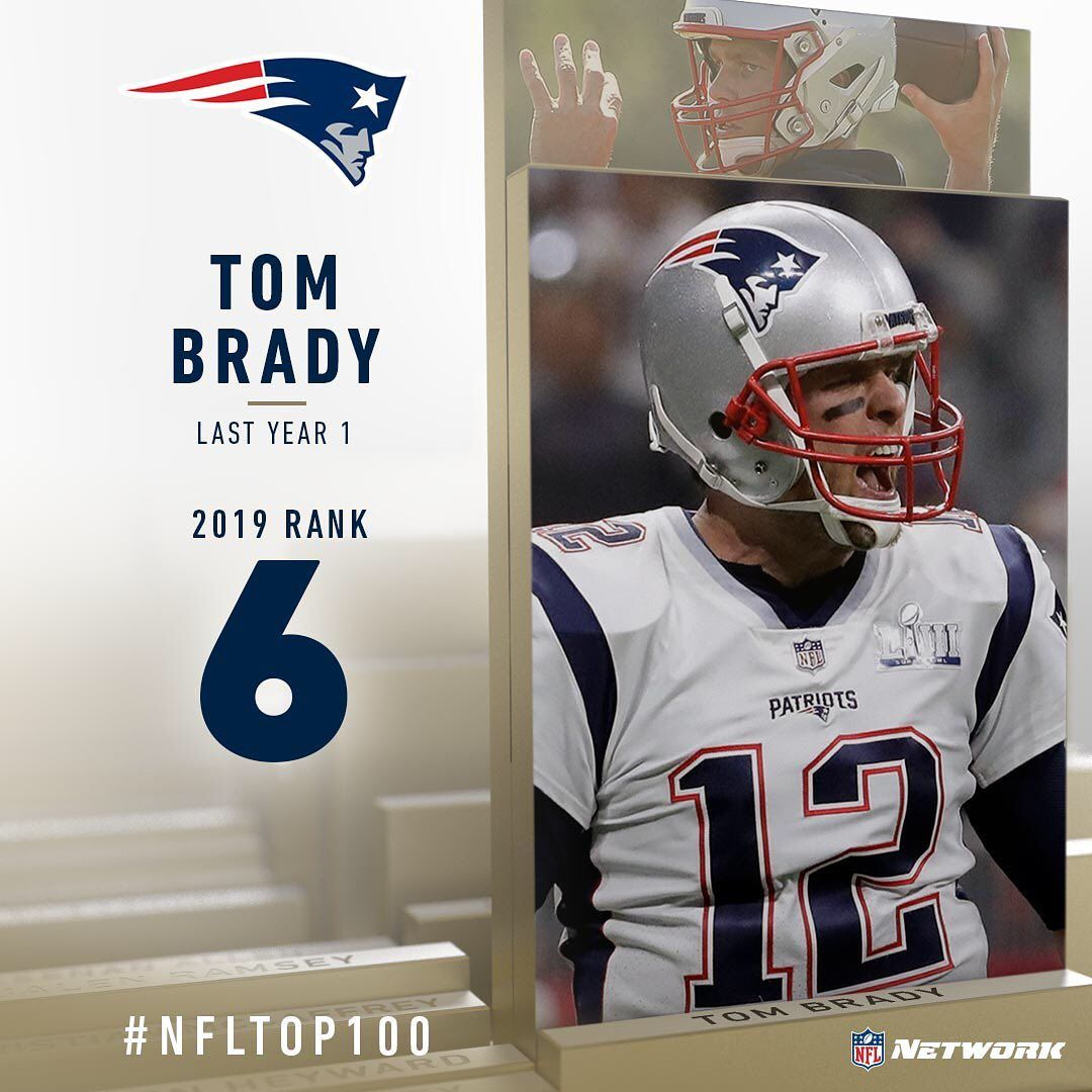Nfl Brady Brown Rodgers Jones Miller Nfltop100 Players Ranked 6 10 New England Patriots Football New England Patriots Merchandise New England Patriots