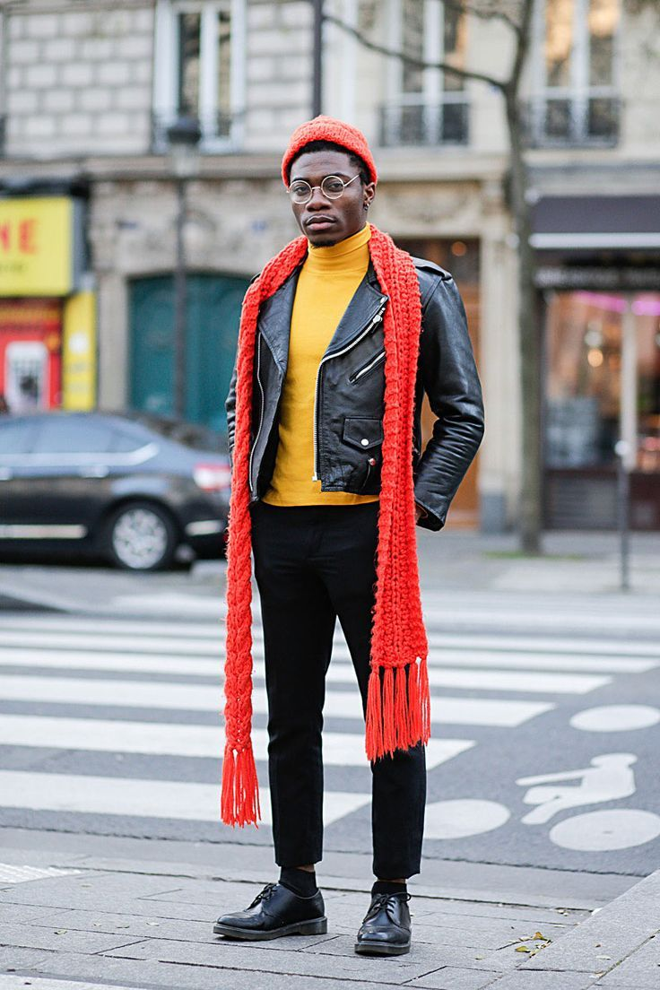 Adding a pop of colour with a red scarf and yellow roll neck jumper #StyleMadeEasy