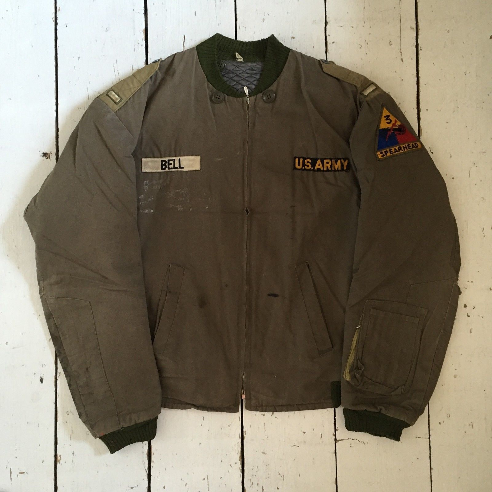 Really Rare U S Army Tanker Jacket With Great Patches Vintage Military Jacket Military Outfit Vintage Leather Jacket