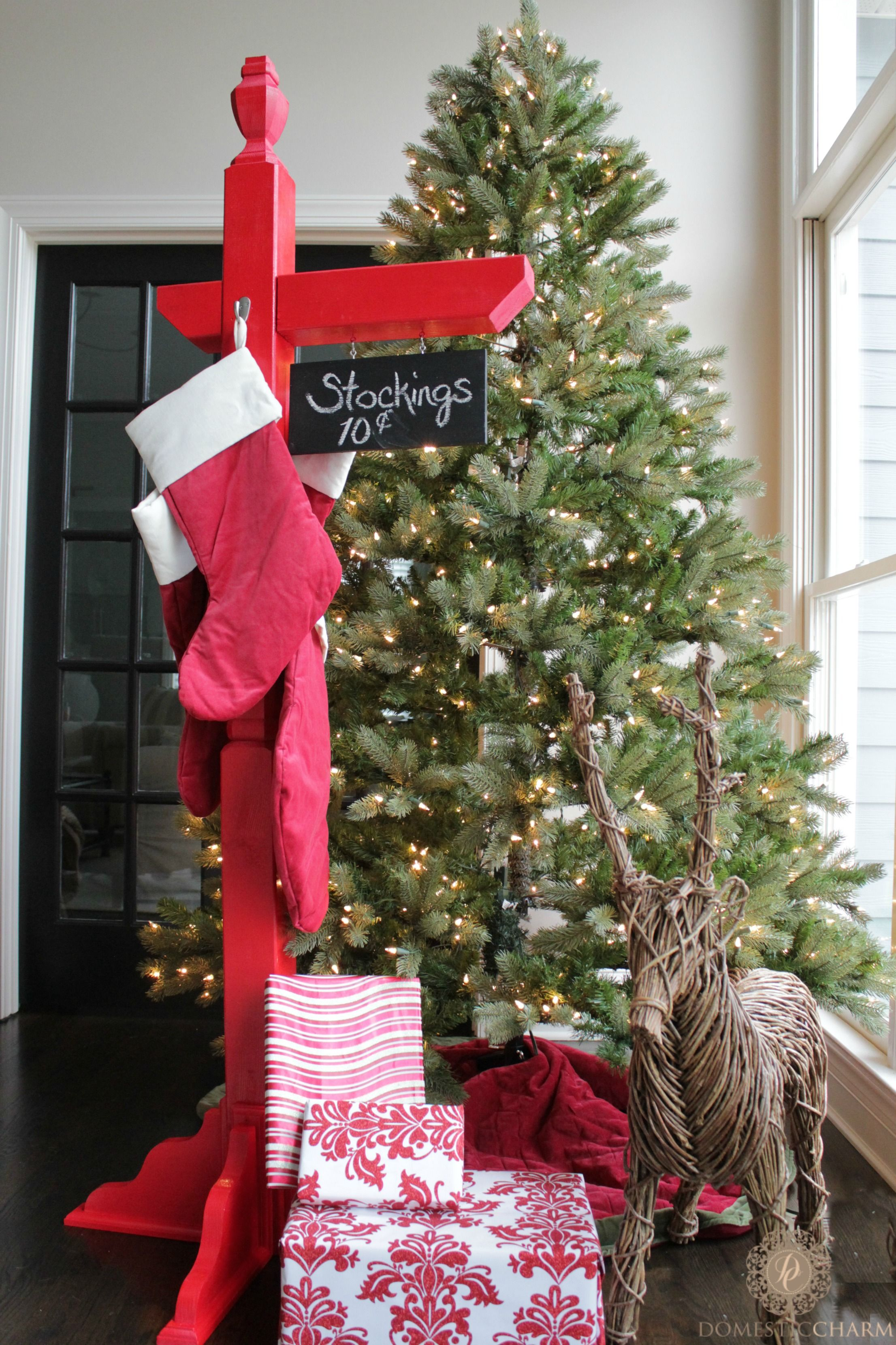 Diy Stocking Holder With The Home Depot Christmas Crafts