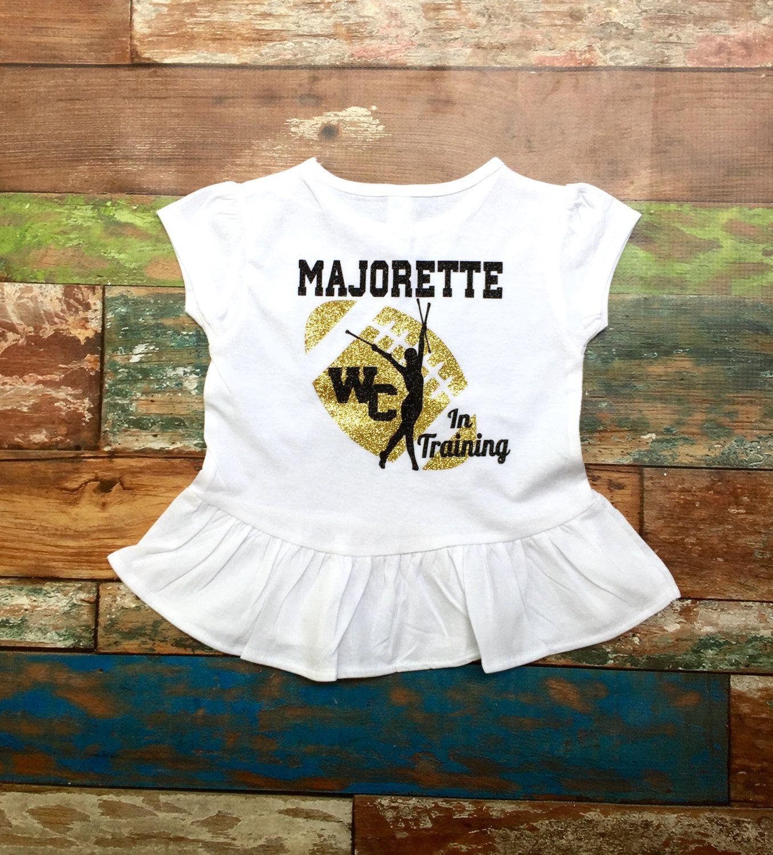 Majorette In Training T Shirt Future Mom N Bab Blouse Emily Pink Size 4t Baton Twirler By Poshboutiquega On Etsy
