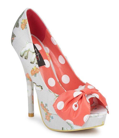Iron Fist 'Black Sheep' peep toe shoes with polka dot bow