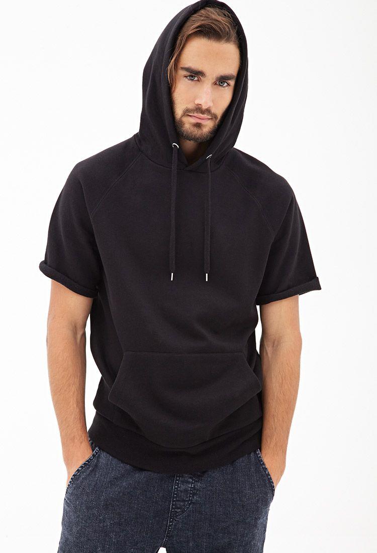 American Rag Solid Short-Sleeve Hoodie - Hoodies & Fleece - Men ...