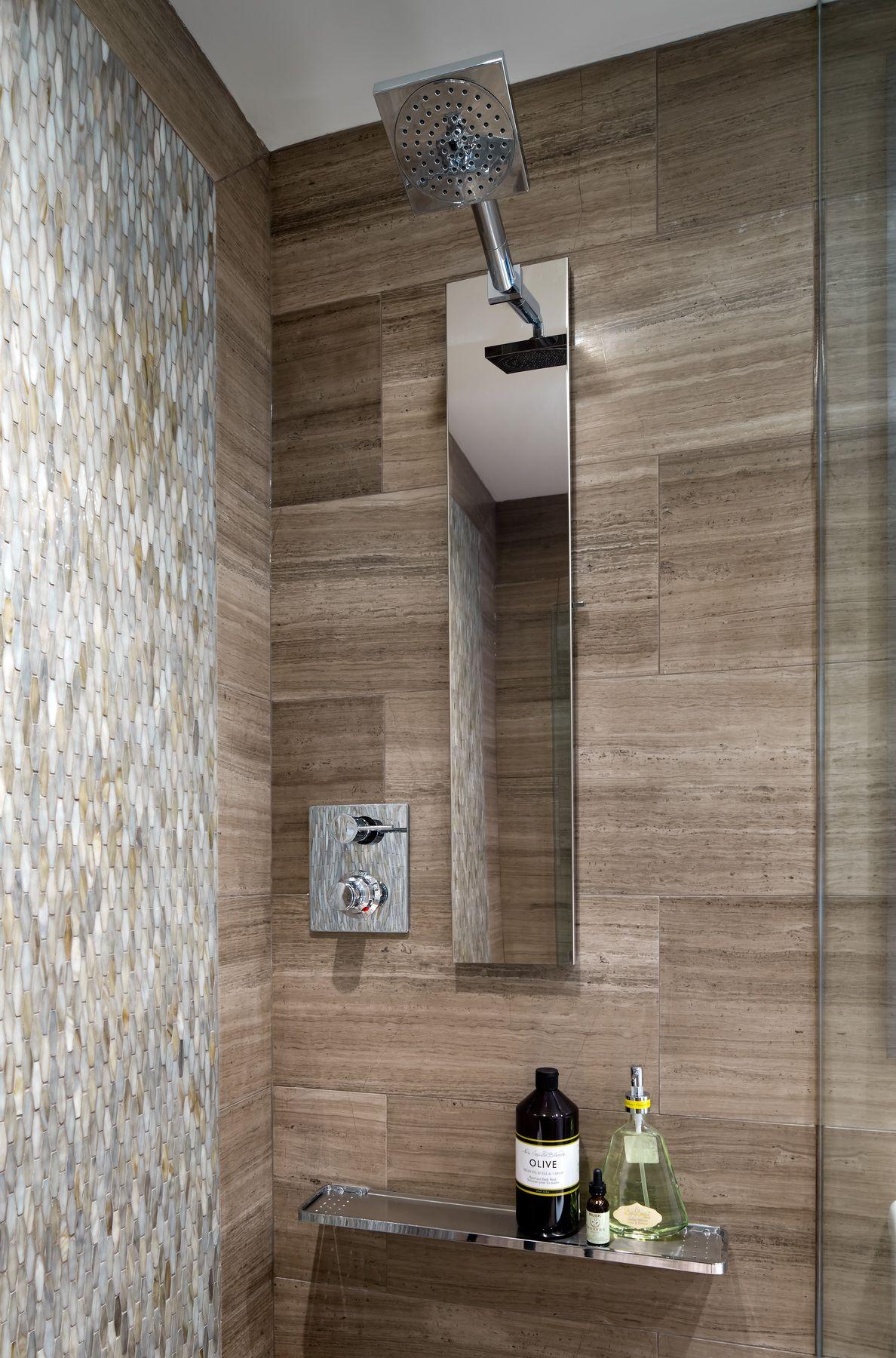 Condo Bathroom Shower Area Designed By Toronto Interior Design Group