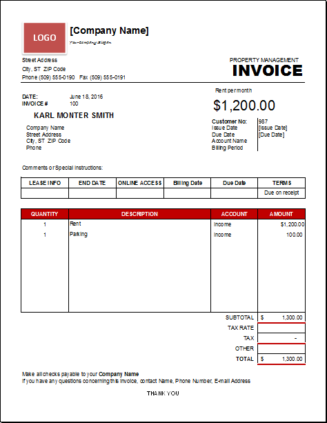 Property Management Invoice Download At HttpWww