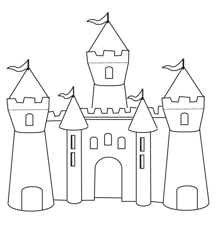 Coloriage Chateau Fort A Colorier Dessin A Imprimer Castle