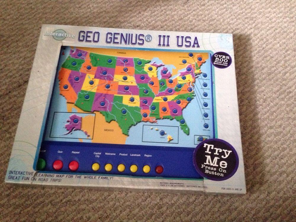 USA Map Interactive Geo Genius III Interactive