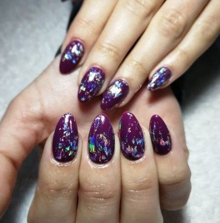 best nails acrylic purple design 28 ideas  fall acrylic
