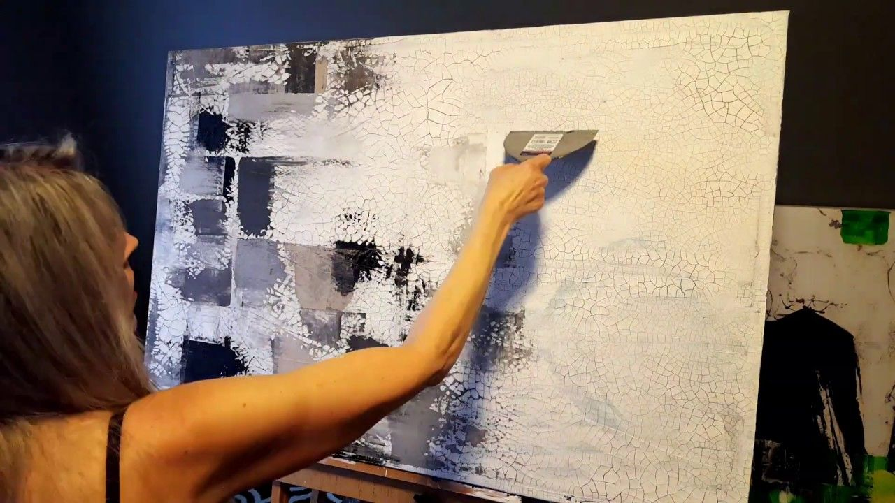 Abstract Painting Demonstration By Madison Ep3 Adding Heavy Texture Paste To Your Canvas Dÿ ƒ Youtube Painting Demonstration Abstract Painting Abstract