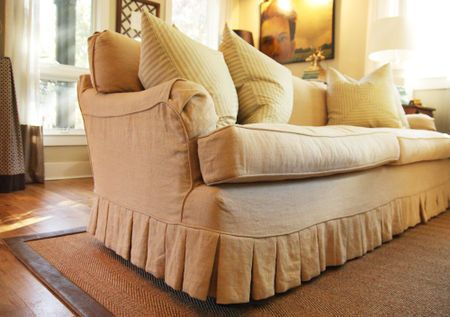 Best Slipcover Company, Rachel In Linen. Loveseat Or Two Chairs