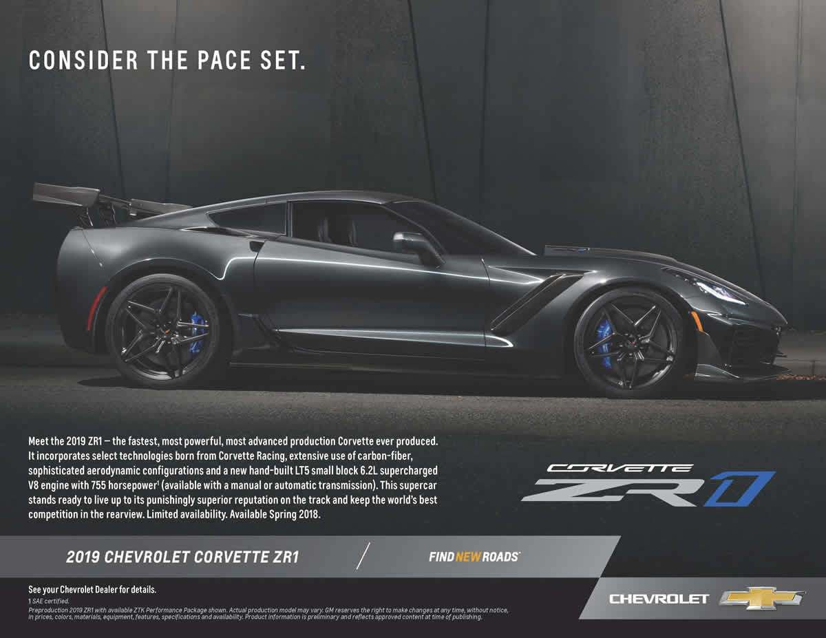 2019 Corvette Zr1 Promotional Flyer Thoughts Of Styles With Power