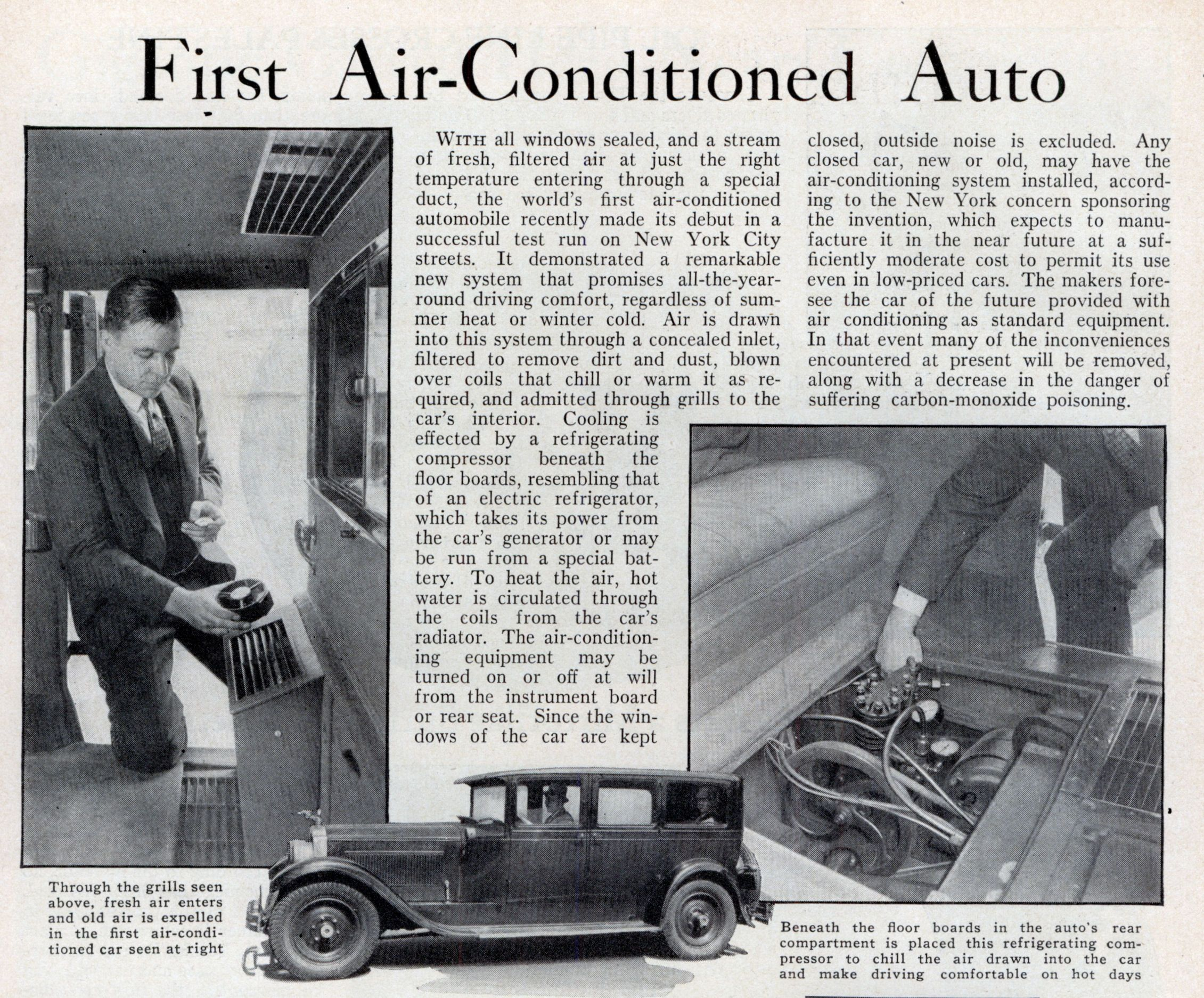 November 1933 Early Automotive Air Conditioning Pinterest Cars