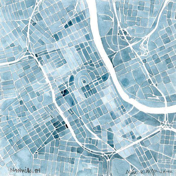 Nashville blueprint 8x8 12x12 16x16 summit ridge map print indigo nashville blueprint 8x8 summit ridge map print indigo blue jean southern city map 2000 malvernweather Image collections