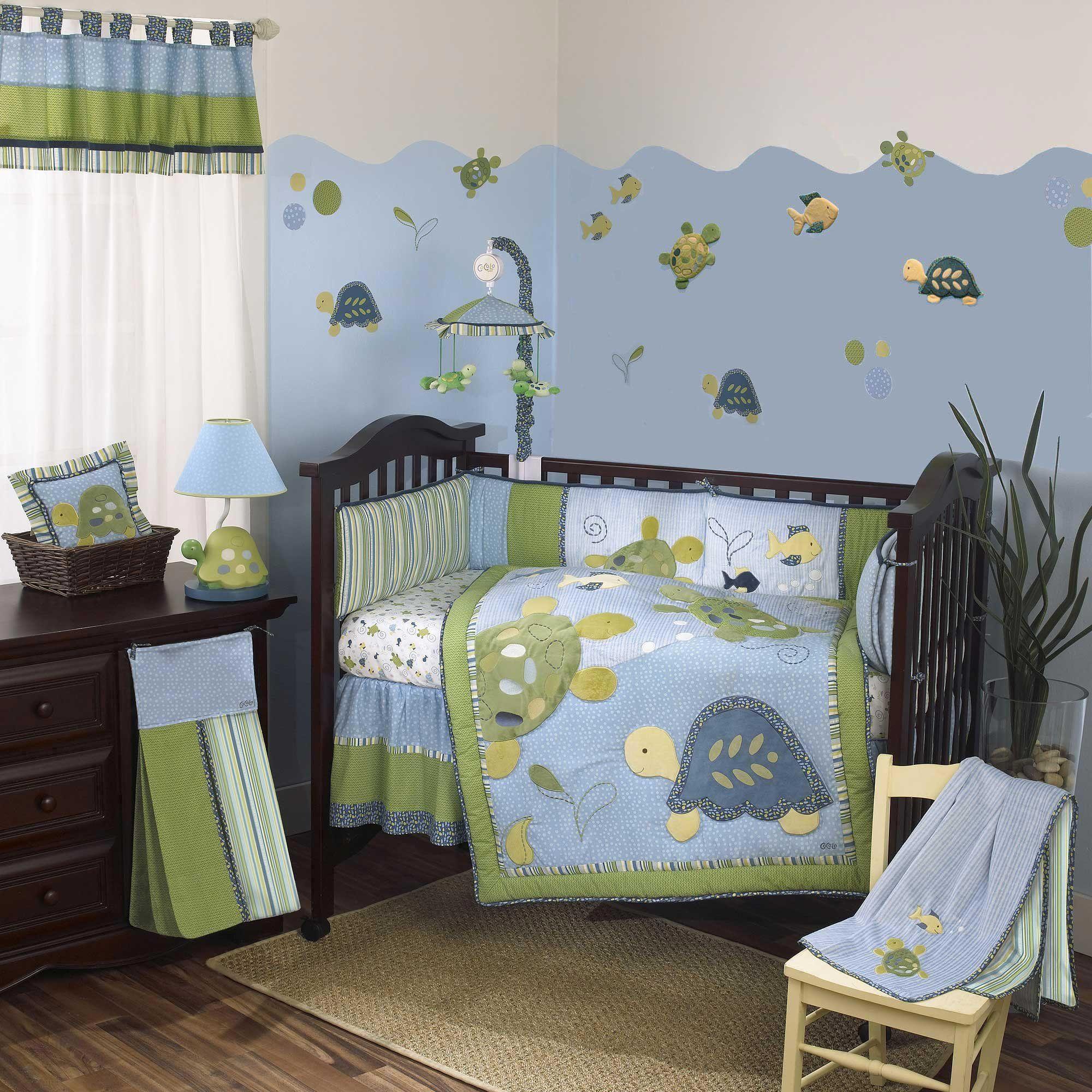 Turtle Reef 9 Piece Baby Crib Bedding Set W Bumper By Cocalo