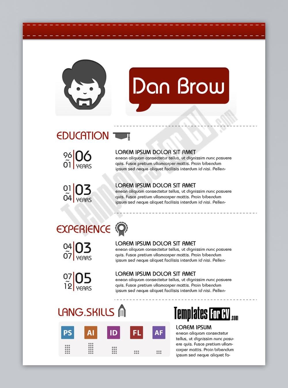 Graphic Designer Resume Sample Cv Kreatif Desain Cv Desain Brosur