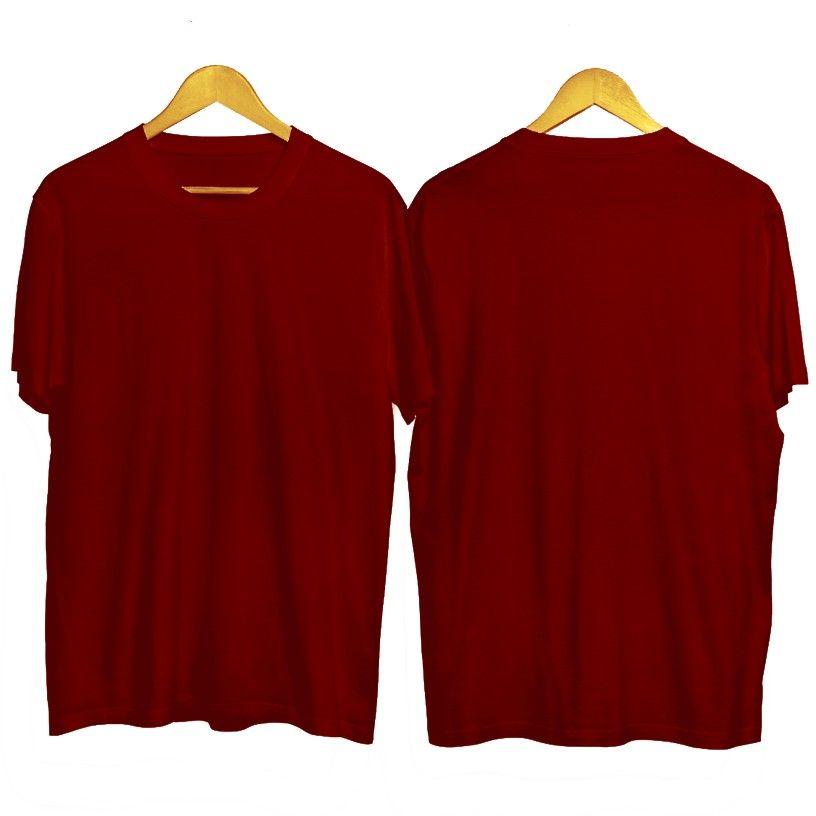 Baju Polos Merah Maroon