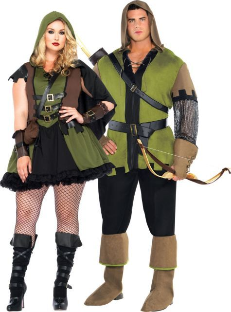 plus size robin hood couples costumes - party city | halloween