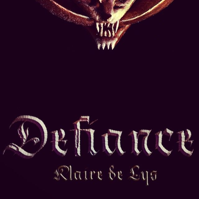 Sneak peek of the cover for #Defiance. Release date is July 14th
