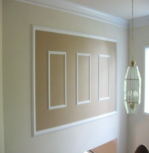 Foyer Door Frame : Picture frame molding to enhance a two story foyer for