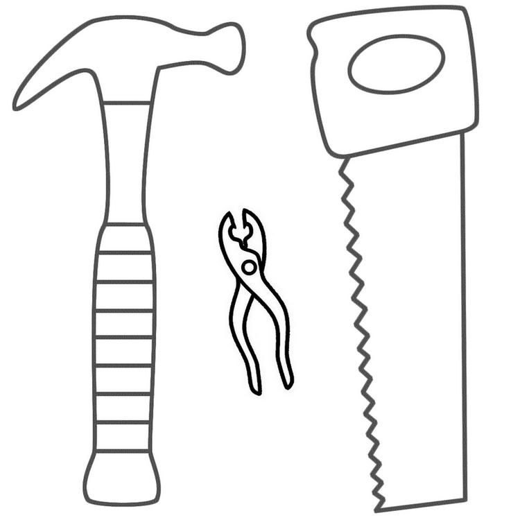 Saw And Other Building Tools Coloring Pages Coloring Pages Coloring Pages For Kids Free Coloring Pages
